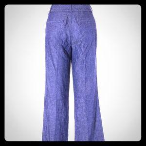 Ann Taylor Linen Blend Jean Trouser Size 14P